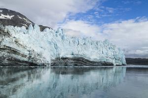 Alaska, Glacier Bay. A close-up view of Margerie Glacier with lateral moraine by Brenda Tharp