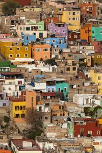 Mexico, Guanajuato. Colorful Homes Rise Up the Hillside of This Colorful Mexican Town by Brenda Tharp