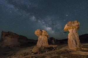 Milky Way rises above a sandstone hoodoo in Escalante-Grand Staircase National Monument, Utah. by Brenda Tharp