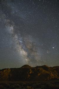 Milky Way rises above the Buttermilks, a region of boulder-covered hills in the Eastern Sierra, Cal by Brenda Tharp