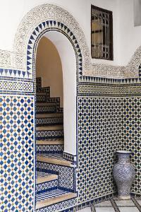 Morocco, Fes. Interior Detail of a Restored Riad by Brenda Tharp