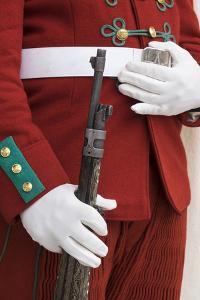 Morocco, Rabat. Detail of the uniform of a Royal Mausoleum Guard. by Brenda Tharp
