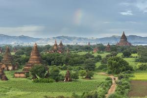 Myanmar, Bagan. Stupas Dot the Plains of Bagan by Brenda Tharp