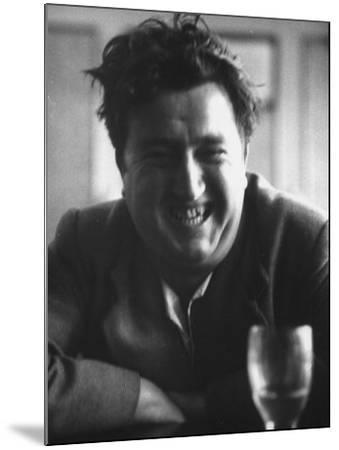 "Brendan Behan, Embodiment of Poet Character in Sean O'Casey's Play, ""The Shadow of a Gunman""-Gjon Mili-Mounted Premium Photographic Print"