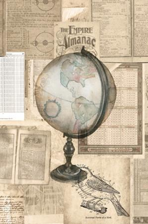 Academic Globe Illustration by Brenna Harvey