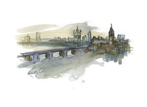London Cityscape by Brenna Harvey