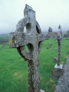 Celtic Cross Gravestone, County Clare, Ireland by Brent Bergherm