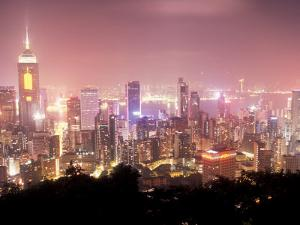 Central Overview from Stubbs Road Lookout, Hong Kong, China by Brent Bergherm