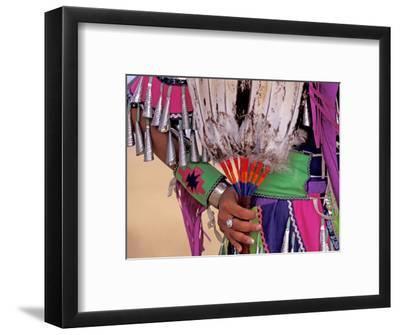 Native American in Colorful Regalia for Wild Horse Casino Pow Wow, Oregon, USA
