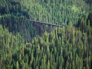 Old Train Trestle, Hiawatha Bike Trail, Idaho, USA by Brent Bergherm