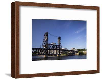 Oregon, Portland. Steel Bridge Spans the Willamette River