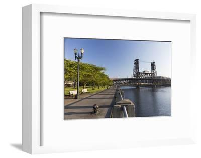 Oregon, Portland. Waterfront Park Along the Willamette River