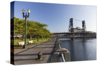 Oregon, Portland. Waterfront Park Along the Willamette River