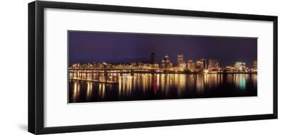 Panoramic View of Portland Waterfront, Oregon, USA