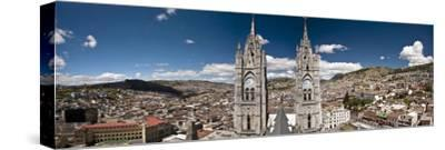 Panoramic View of the Bell Towers at the National Basilica, Quito, Ecuador