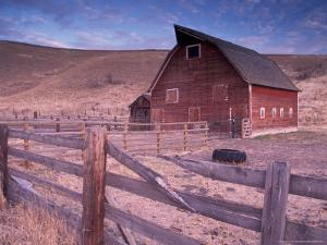 Red Barn, Wallowa County, Oregon, USA by Brent Bergherm