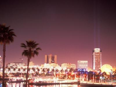 Skyline from the Park at Long Beach Harbor, Long Beach, California, USA
