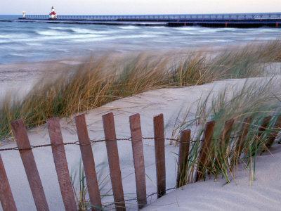 St. Joseph Lighthouse on Lake Michigan, Berrien County, Michigan, USA