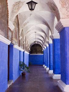 Cloisters, Monasterio de Santa Catalina, Arequipa, Arequipa, Peru by Brent Winebrenner