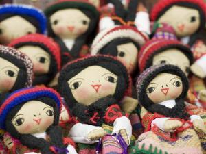Close-Up of Bolivian Dolls for Sale, La Paz, Bolivia by Brent Winebrenner