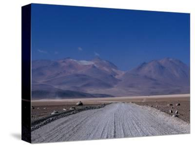 Dirt Road with Mountains Behind Near Lake Verde, Lake Verde, Bolivia