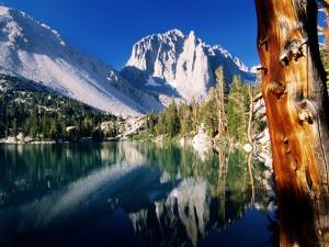 First Lake at Sunrise on North Fork of Big Pine Creek Trail, John Muir Wilderness Area, California by Brent Winebrenner