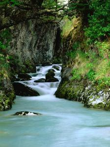 Glacial Stream Through Rocky Walls, Torres Del Paine National Park, Chile by Brent Winebrenner