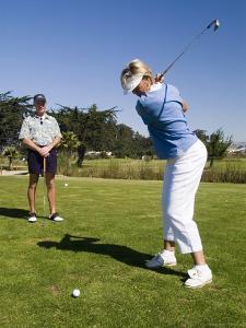 Golfers, Pismo Beach, California by Brent Winebrenner