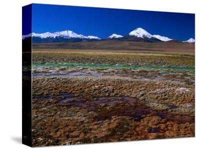 Hot Spring Run off and the Distant Andean Cordillera, San Pedro De Atacama, Chile