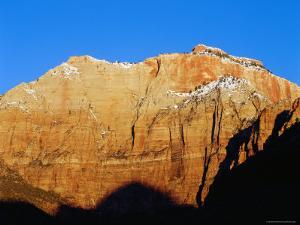 Mount Kinesava at Sunrise, from Watchman Campround, Zion National Park, Utah by Brent Winebrenner