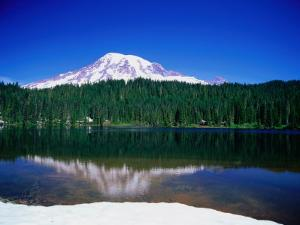 Mt. Rainier from Reflection Lake, Mt. Rainier National Park, USA by Brent Winebrenner