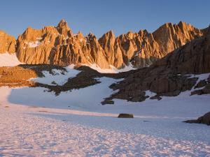 Mt. Whitney and Eastern Ramparts of High Sierra at Sunrise, California by Brent Winebrenner