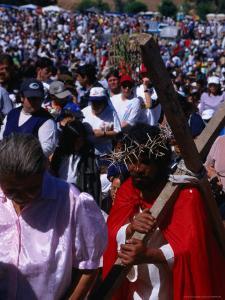 Pilgrim in Santuario De La Inmaculada Concepcion Parade, Chile by Brent Winebrenner