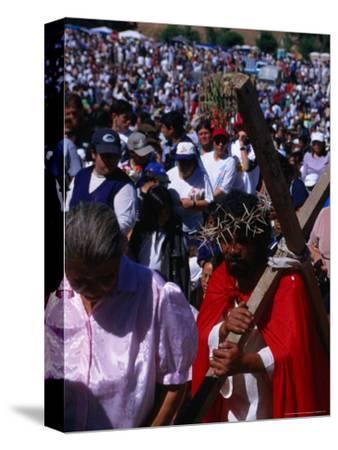 Pilgrim in Santuario De La Inmaculada Concepcion Parade, Chile