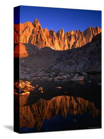 Rocky Crags in the Sierra Nevada Mountain Range and Small Lake, Inyo National Forest, USA
