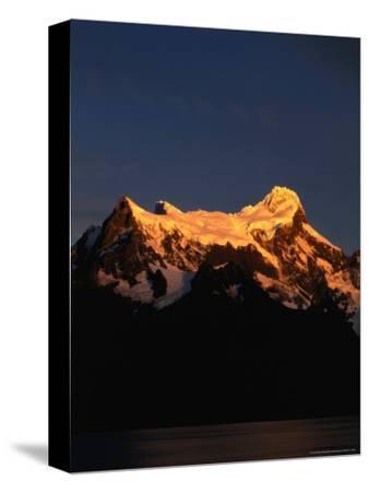 Snowy Peak of Cerro Paine Grande in Sunlight, Torres Del Paine National Park, Chile