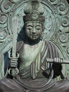 Statue of Buddha at Tenryu-Ji Temple, Sagano District by Brent Winebrenner