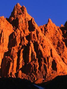 Sunlight on Rocky Crag in the Sierra Nevada, on the Whitney Portal Trail, Inyo National Forest by Brent Winebrenner
