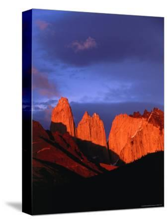The Towers of Paine in Sunlight, Torres Del Paine National Park, Chile
