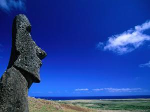 Traditional Moai Carved Form Soft Volcanic Rock at Rano Raraku, Easter Island, Valparaiso, Chile by Brent Winebrenner