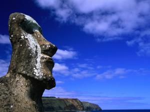 Traditional Moai Carved from Soft Volcanic Rock, Ahu Tongariki, Chile by Brent Winebrenner