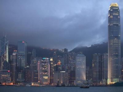 Victoria Harbor and the Skyline from Kowloon, Hong Kong, China