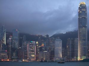 Victoria Harbor and the Skyline from Kowloon, Hong Kong, China by Brent Winebrenner