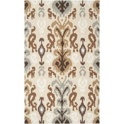 Brentwood Area Rug - Cream/Mocha 5' x 8'--Home Accessories