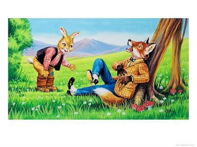 Brer Rabbit and Brer Fox-Henry Charles Fox-Giclee Print