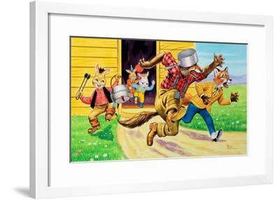 Brer Rabbit, Friends and Saucepans-Henry Charles Fox-Framed Giclee Print