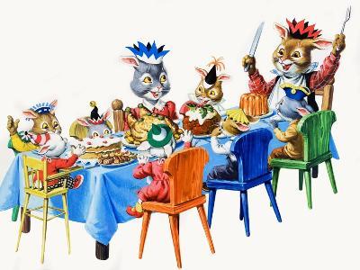 Brer Rabbit's Christmas Meal-Virginio Livraghi-Giclee Print