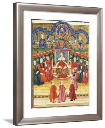 Brescian Citizens Given an Audience in the Venetian Senate, Miniature from Book of Privileges--Framed Giclee Print