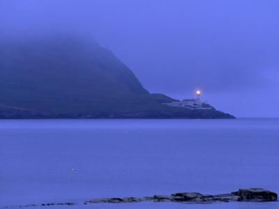 Bressay Lighthouse, Kirkabister Ness, Bressay, Shetland Islands, Scotland, United Kingdom, Europe-Patrick Dieudonne-Photographic Print