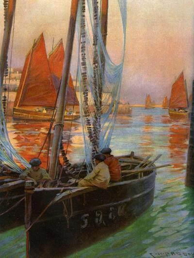 Brest Fishing Boats, 1907-Charles Padday-Giclee Print